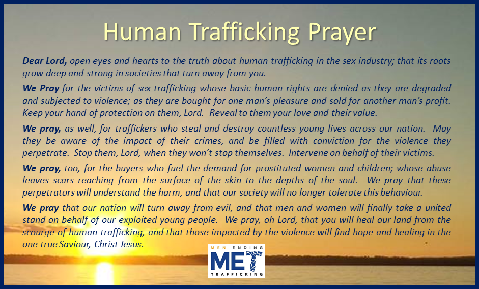 Human Trafficking Prayer